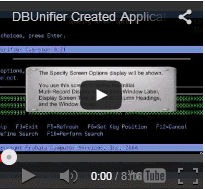 Create an Application with DBUnifier